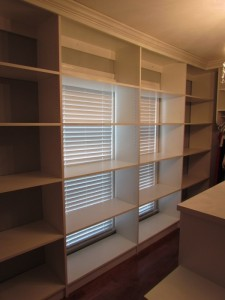 Shelves Aligned over Window