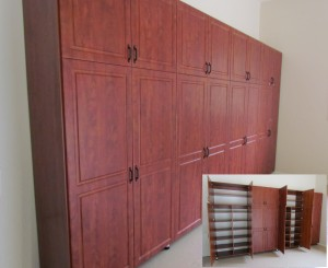 Woodgrain Garage Cabinets