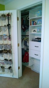 White Shelves, Wire Basket Hamper, Drawers