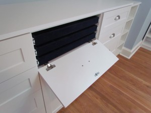 Triple Jewelry Flip Down Drawer