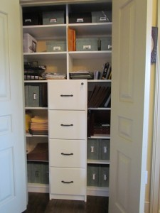 File Drawers in a Small Office Closet