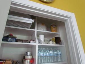 Reach-in Linen Closet as a Pantry
