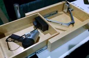 in-drawer electrical receptacle