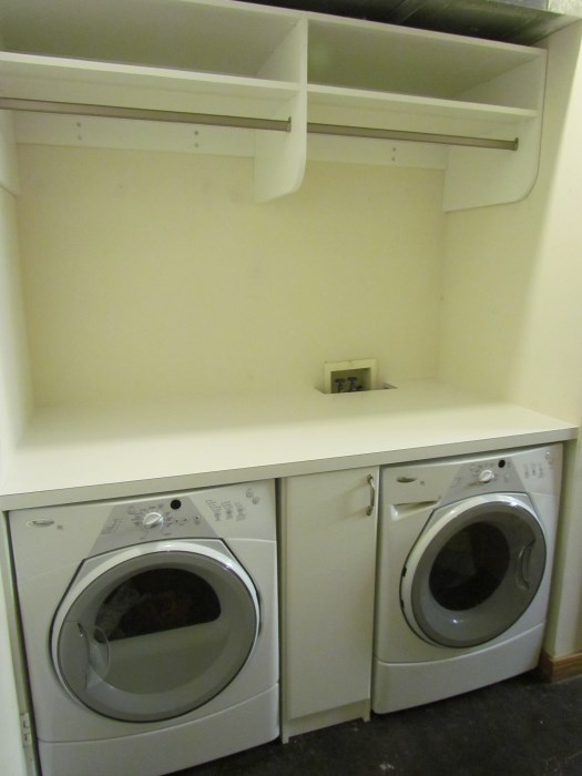 hanging space in laundry room | home design ideas