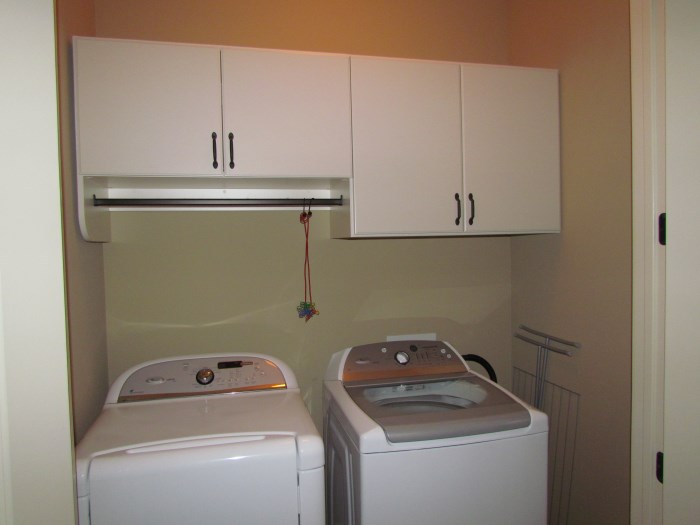 atlanta closet & storage solutions laundry rooms - Laundry Room Cabinets with Hanging Rod