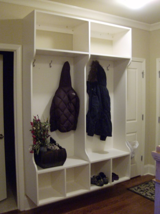 Transform Your Coat Closet into a Mud Room | Sunshine Dad