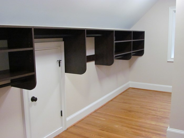 Hanging Closet Rod From Sloped Ceiling Image Bathroom 2017