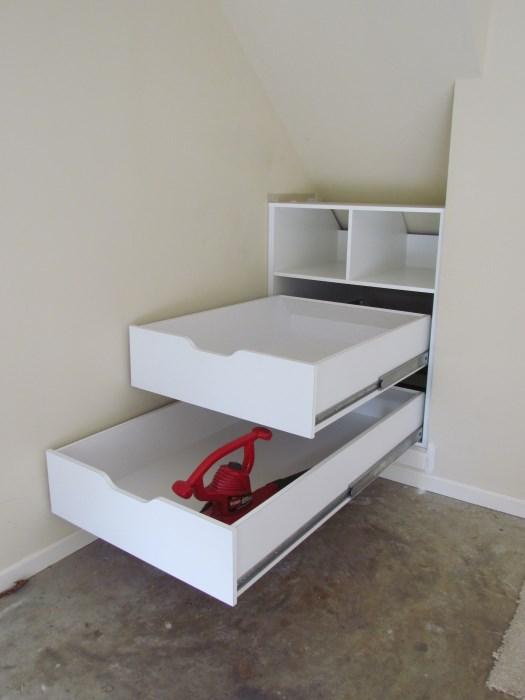 slanted ceiling storage ideas - Atlanta Closet & Storage Solutions Sloped Ceilings