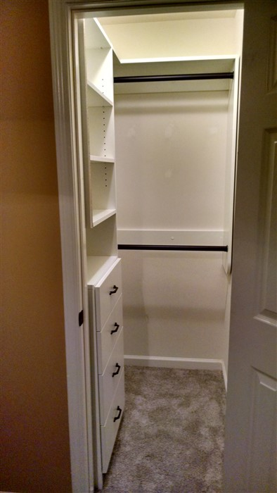 small bedroom with walk in closet atlanta closet amp storage solutions simple closets 20859