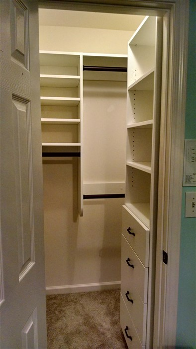 walk in closet in small bedroom atlanta closet amp storage solutions simple closets 20938