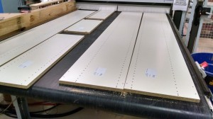 Atlanta Closet Facility - Edgebanded Parts Delivered by Conveyor