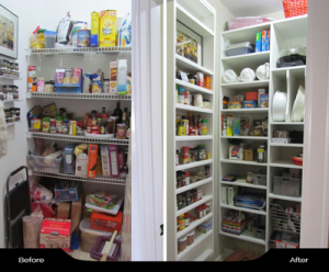 Pantry with Spice Rack behind Door