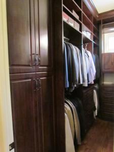Walk-in Closet Storage with Custom Pulls
