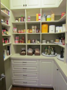 Walk-in Pantry, Lexington Doors and Drawers, Traditional Oil Rubbed Bronze Pulls and Knobs
