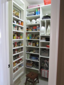 Small Walk-in Pantry Shelves