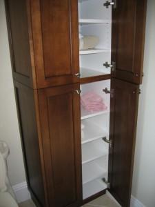 Tall Espresso Bath Cabinet