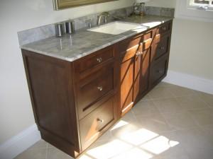Espresso Bath Vanity with Granite Top