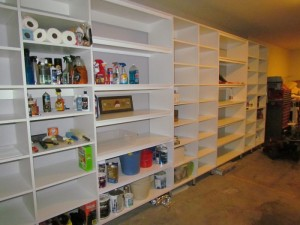 Open Garage Shelves