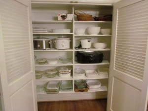 Reach-in Linen Closet as a China Closet