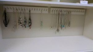 Hutch with Necklace Hooks Close-up