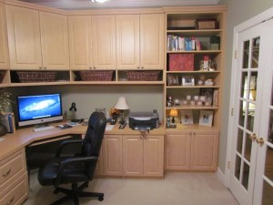 Home Office in Maple - right view