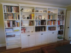 Home Office Bookcases with Crown Molding