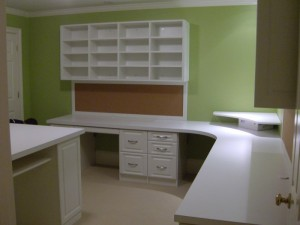 Homework and Craft Center w Cubbies, Computer Station and Wrap-around Counter