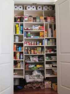 Reach-in Closet Wire Pantry Baskets
