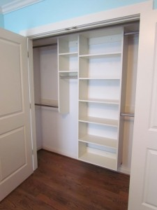 White Shelves, Oval Satin Nickel Rods