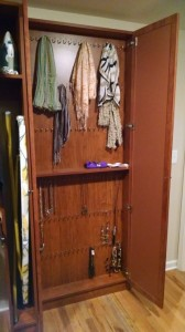 Scarf and Necklace Cabinet