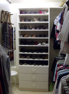 Shoes above Drawers