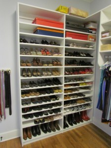 Adjustable Shoe Shelves