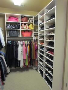 Twin Shoe Shelves