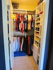 Kids Closet with Hamper