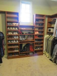 Shoe Shelves under Window