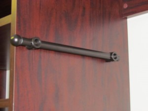 Retracted Oil Rubbed Bronze Valet Rod