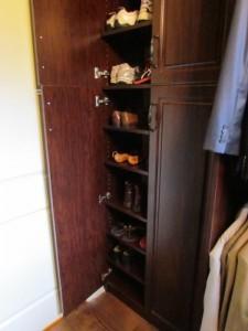 Shoes Behind Open Doors