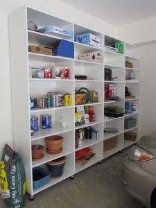 Simple Open Garage Shelves